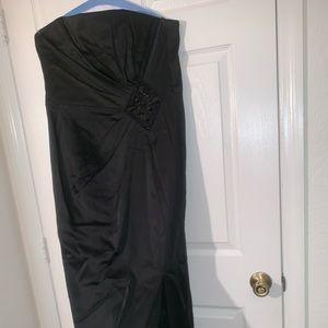 White House Black Market Dresses - Long strapless dress open front size 12